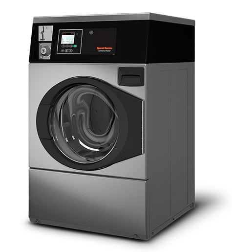 Professional front load washer - Coin operated - Speed Queen SFC Stainless steel left view