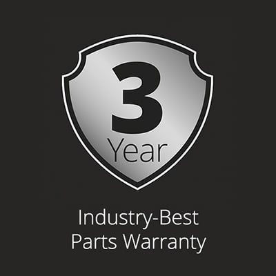 Illustration - Speed Queen laundry machines are covered by a 3-year warranty - the best in the laundry industry