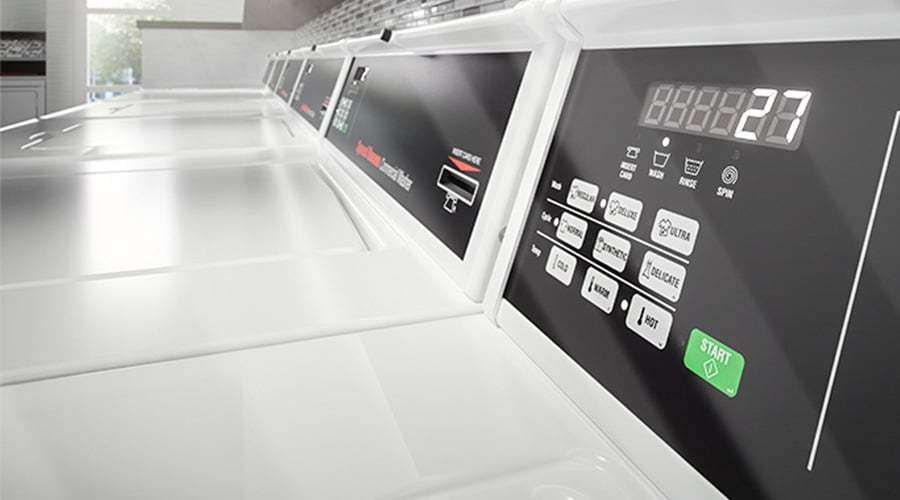 Programmable laundry machines: illustration of Speed Queen Quantum Gold controls