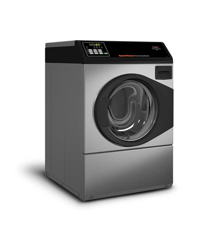 Professional front load washer - Speed Queen SFC Stainless steel left view