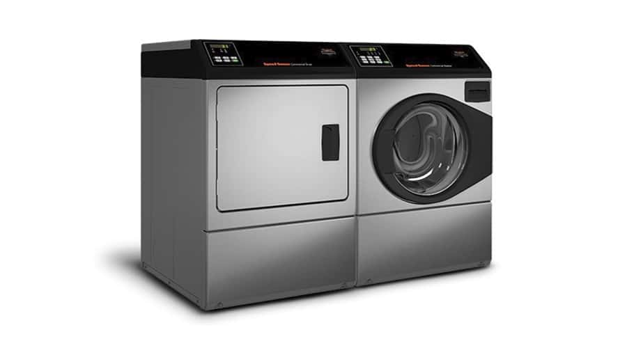 DAM professional dryer pâired with a Speed Queen front load professional washer