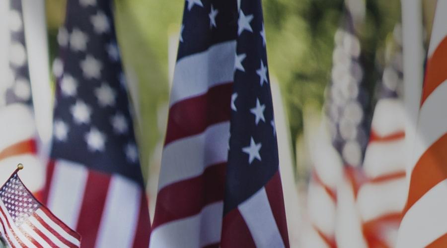 Illustration : American flags