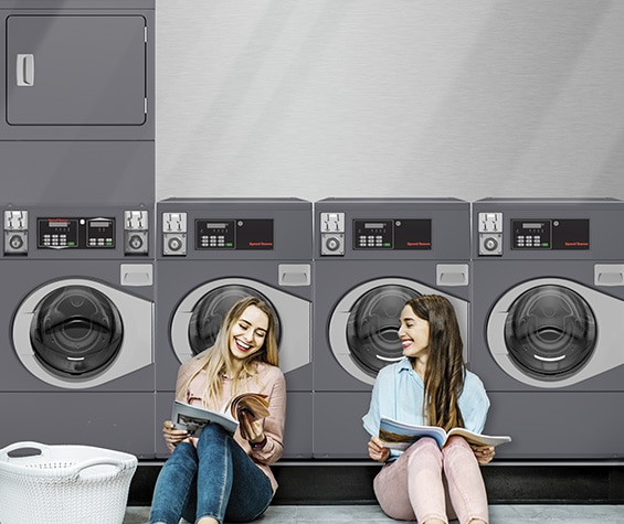 Professional washer in multi housing laundry facility